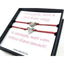 Sister bracelets red