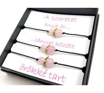 Mother - Daugthers rosequarcz angel bracelets