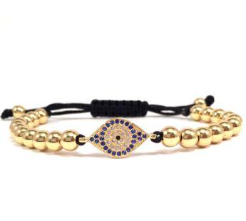 Luxury gold eye cord bracelet