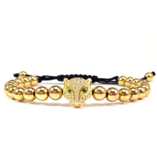 Luxury arany swarovski leopárdos karkötő