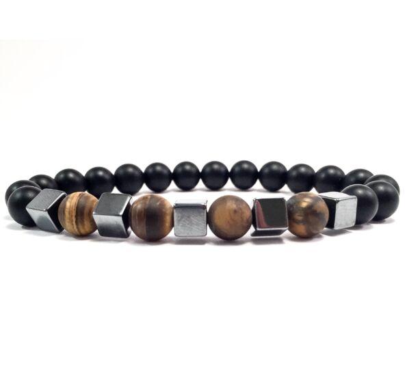 Dalmatians hematite cube bracelet