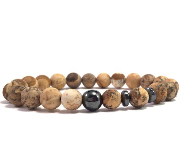 Jasper titan pearl bracelet