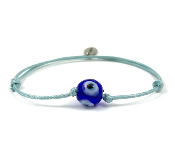 Summer cute Nazar szemes kék zsineg karkötő