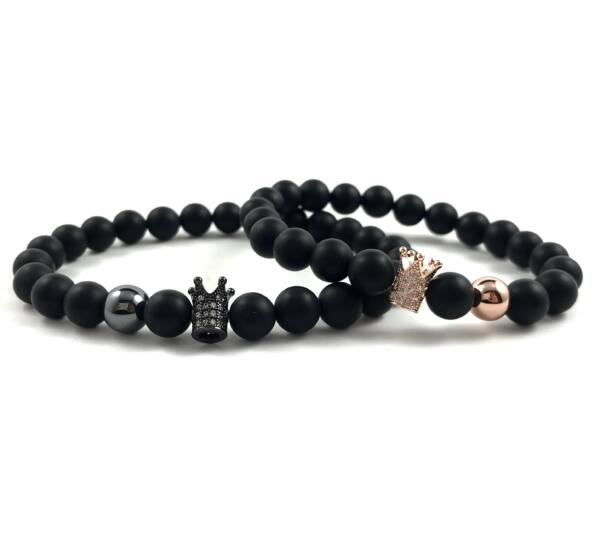Evene matt onyx bracelet