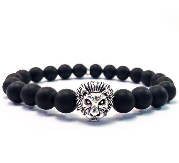 Silver lion bracelet
