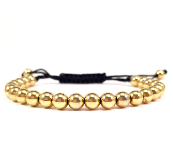 Luxury gold pearl bracelet