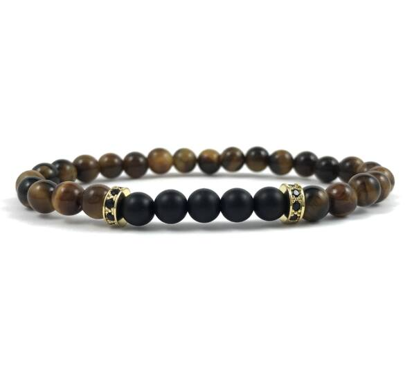 Tiger's eye gold ring bracelet