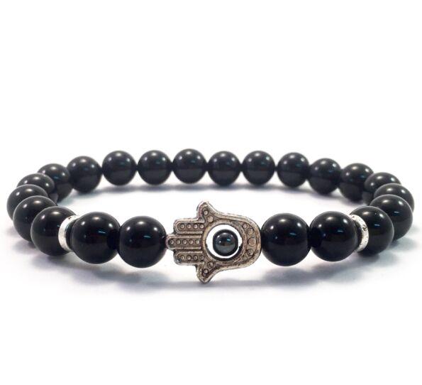 Onyx hamsa bracelet