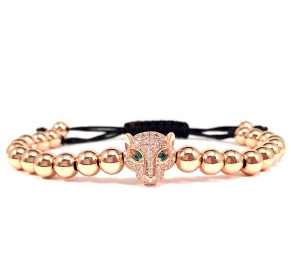 Luxury rozé swarovski leopárdos karkötő