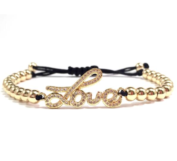 Luxury gold love cord bracelet