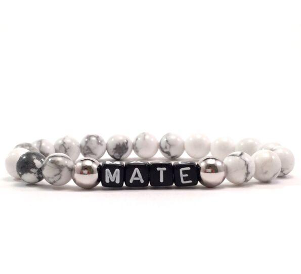 Howlite letter bracelet