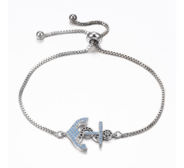 Steel gold bracelet