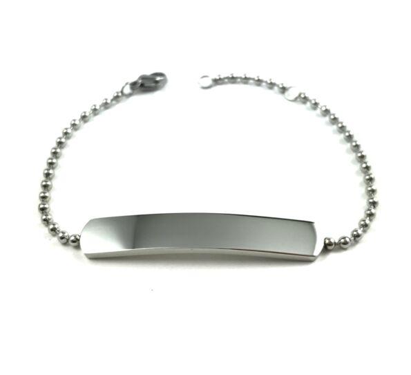 Acél ezüst bilétás karkötő