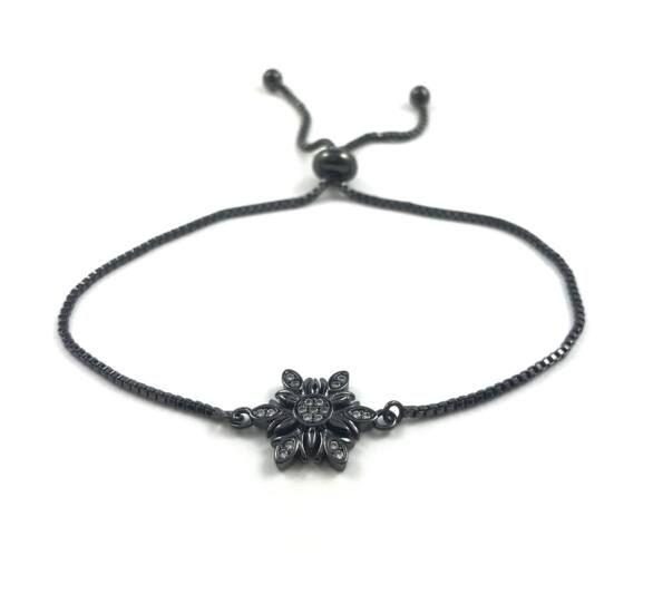 Steel black bracelet