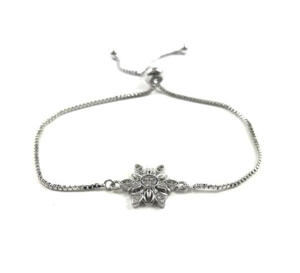Steel silver bracelet