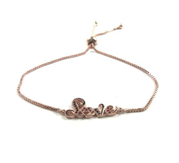Steel rosegold LOVE bracelet