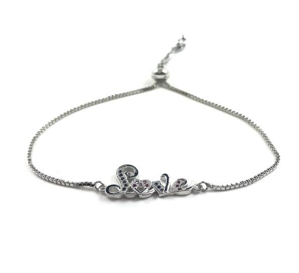 Steel silver LOVE bracelet