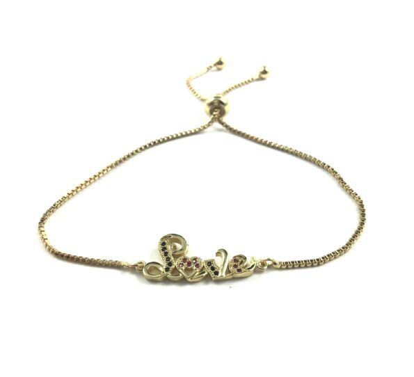 Steel gold LOVE bracelet