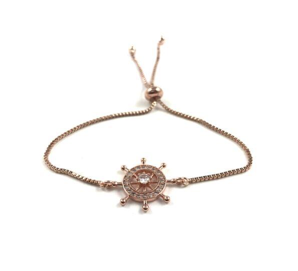 Steel rosegold bracelet