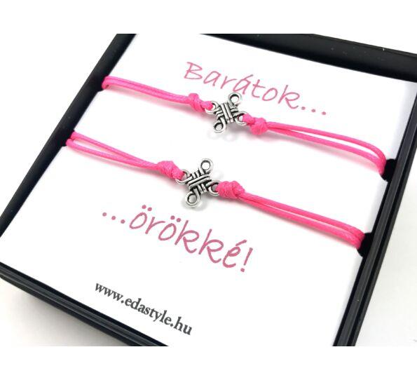Barátság karkötők rózsaszín