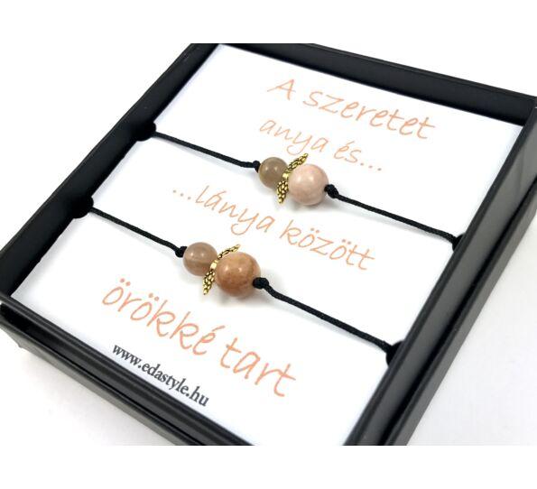 Mother - Daugther moonstone angel bracelets