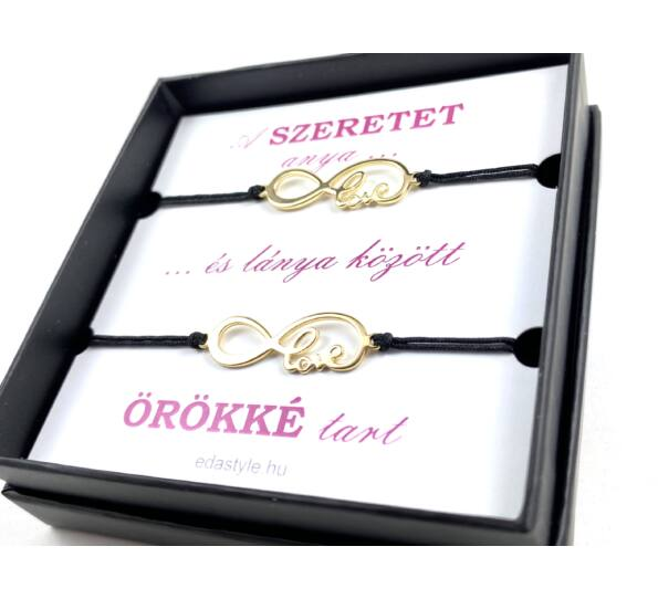 Mother - Daugther gold love bracelets