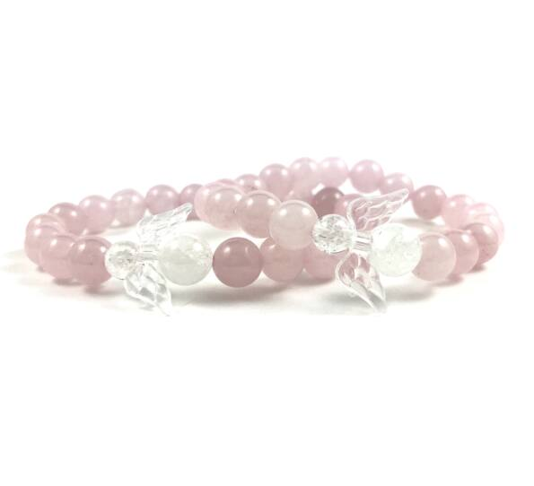 Mother & daugther rosequarcz bracelet