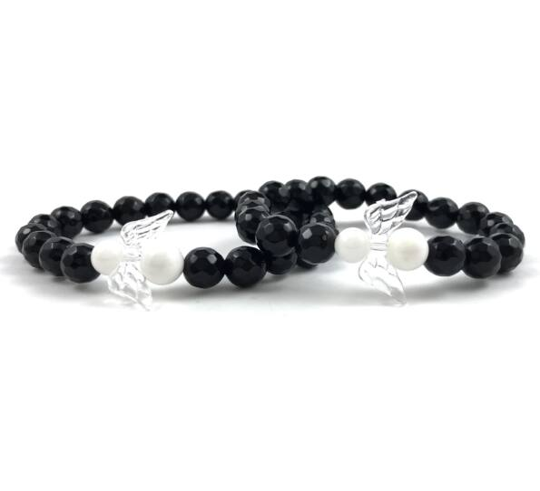 Mother & daugther onyx bracelet