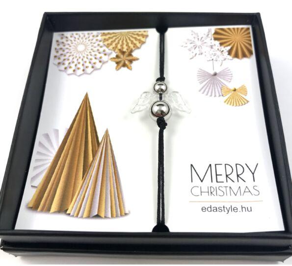 Karácsonyi ezüst angyalka