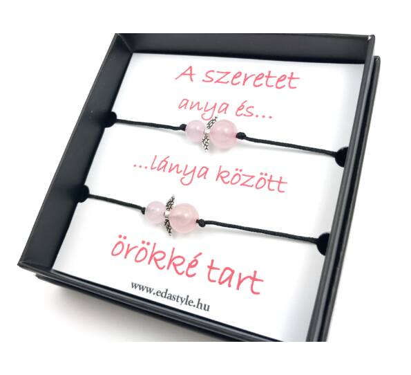 Mother - Daugther rosequarcz bracelets