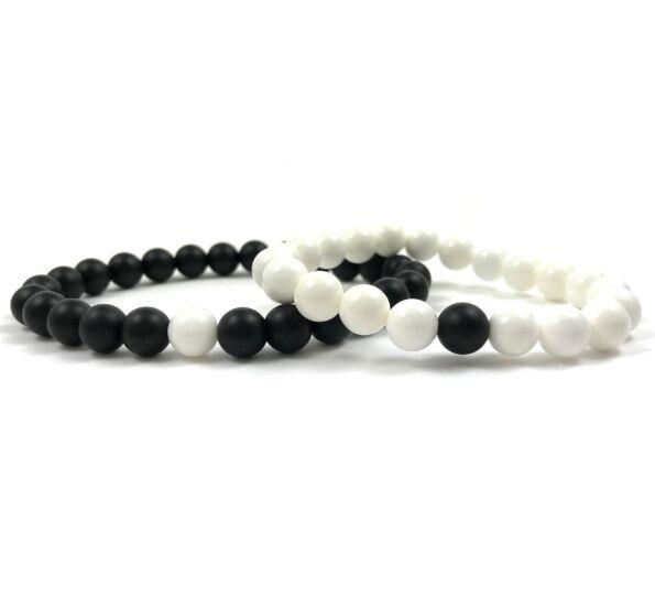 Evene onyx and howlite bracelet