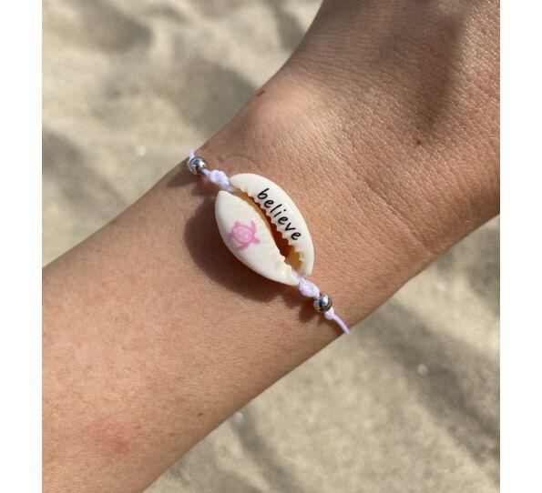 """Shell """"belive"""" string bracelet"""