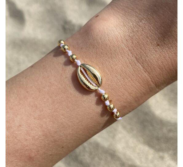 Gold shell string bracelet