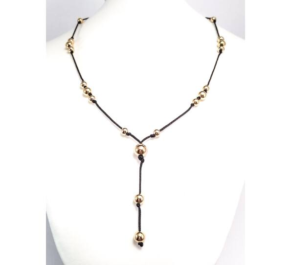 Luxury gold pearl necklace