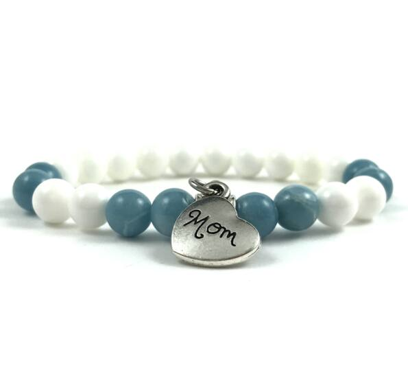 Blue quarcz mom bracelet