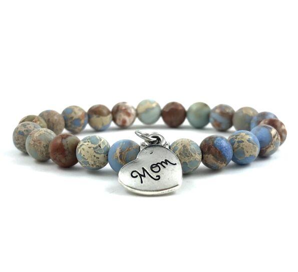 Blue jasper mom bracelet