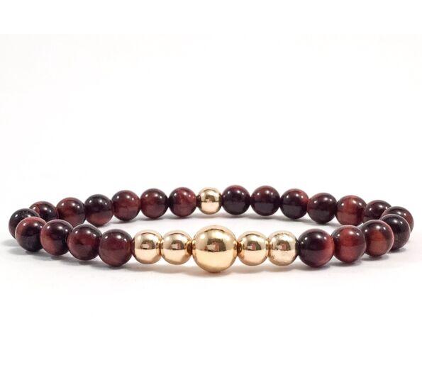 Cat's eye gold pearl bracelet