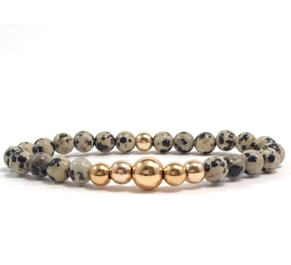 Dalmatian gold pearl bracelet