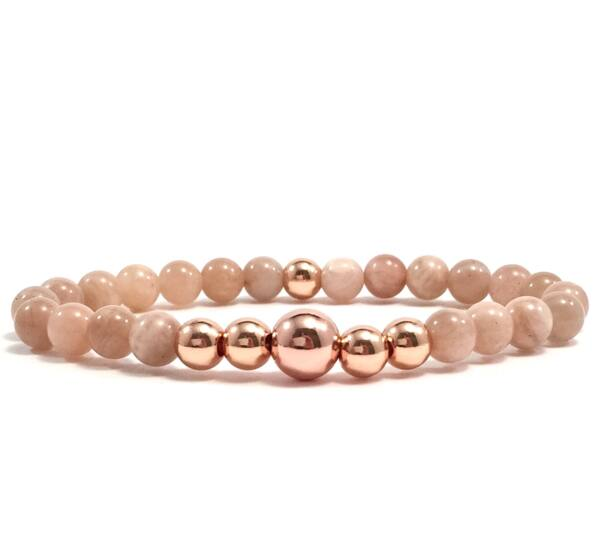 Moonstone rosegold pearl bracelet