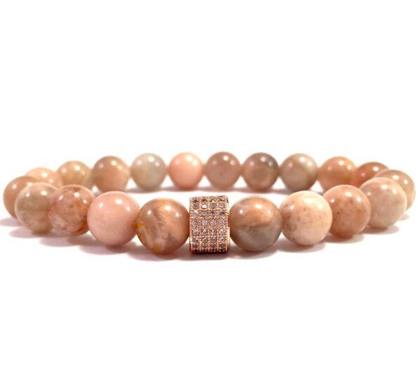Moonstone gold ring bracelet