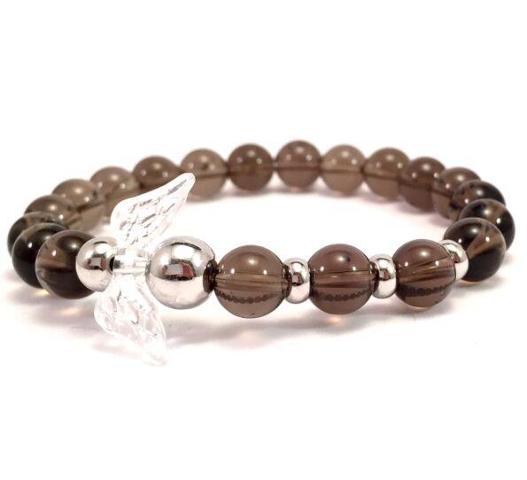 Cairngorm silver angel bracelet