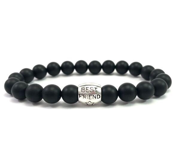 Matte onyx best friend bracelet