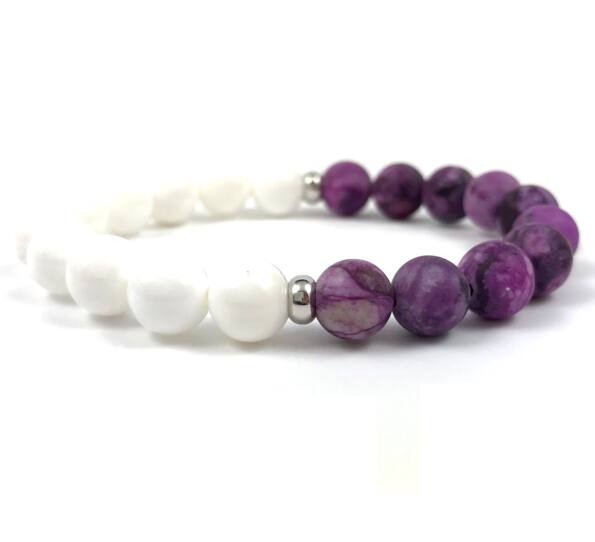 Purple jasper half bracelet