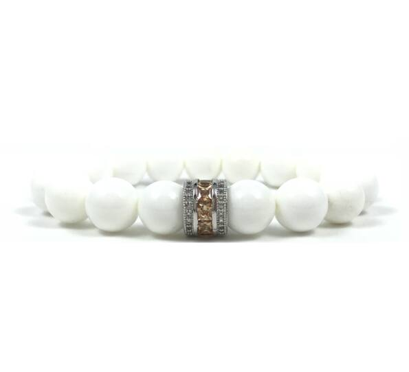 Nacre and yellow ring bracelet