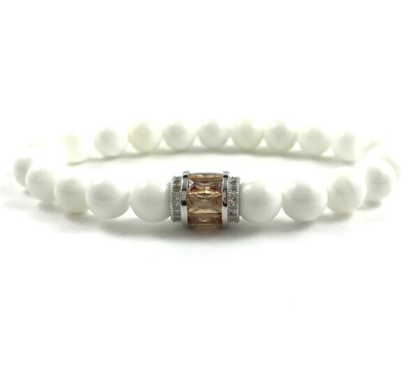Nacre and silver ring bracelet