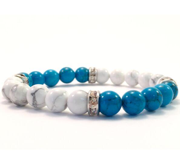 Turkid and howlit quarter bracelet