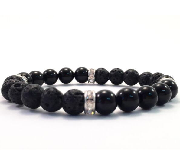 Lava and onix quarter bracelet