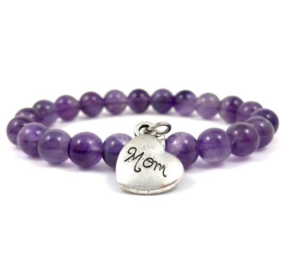 Amethyst mom bracelet