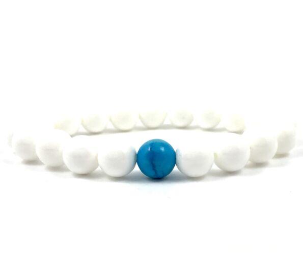 Nacre and turquoise fleck bracelet