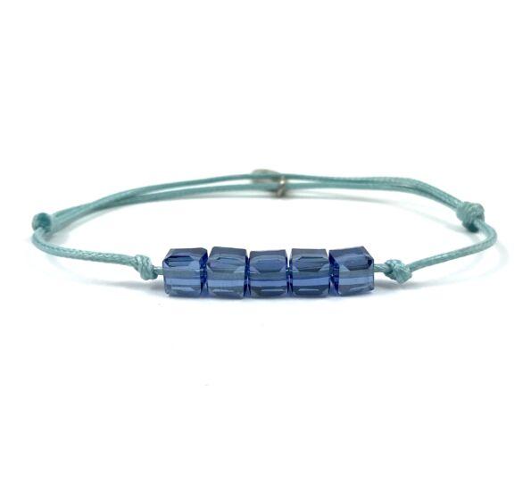 Summer cute kék kockás kék zsineg karkötő
